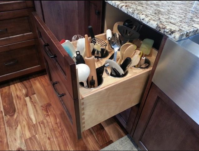 Attractive Cooking Utensils Drawer