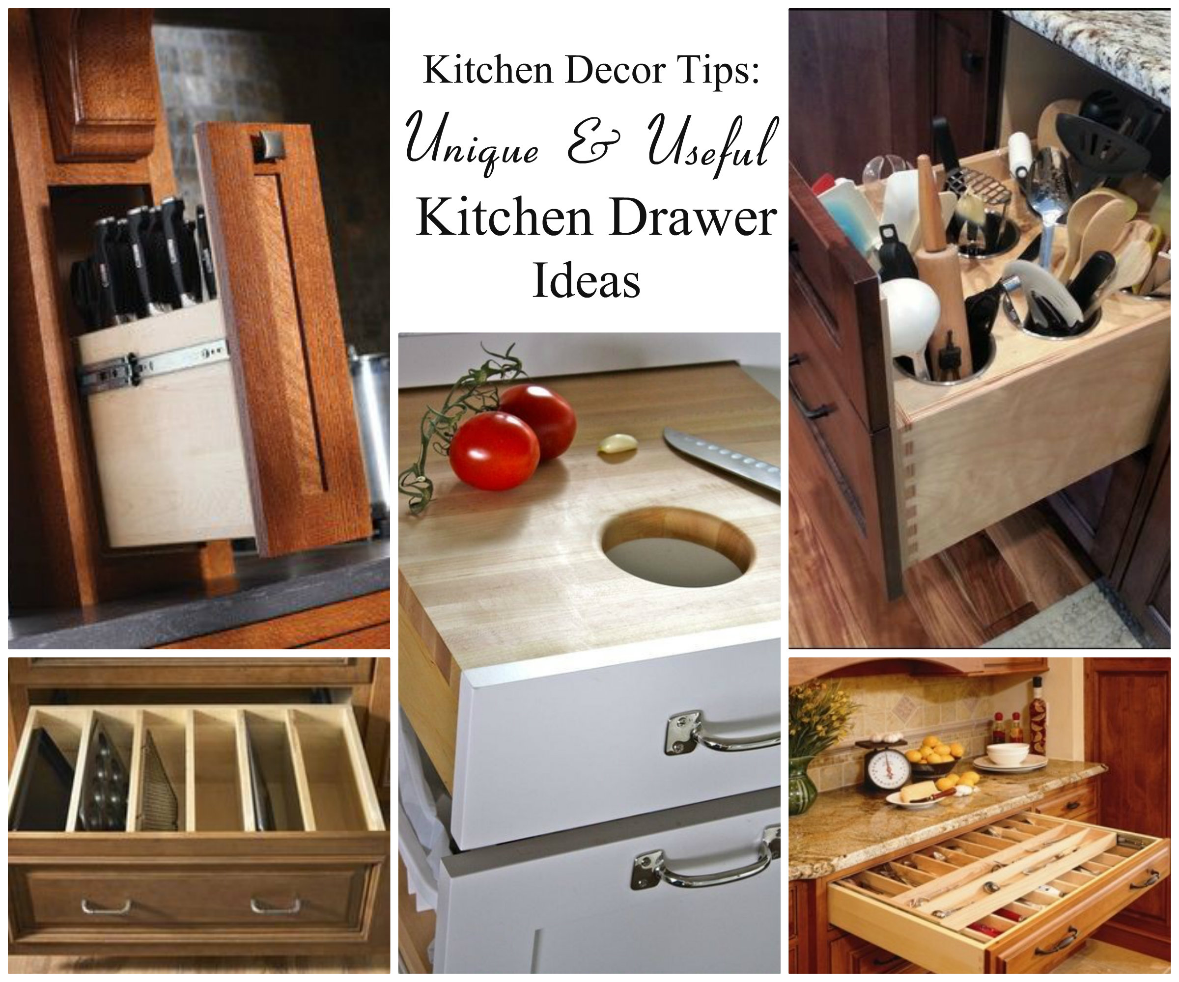 Kitchen decor tips 5 unique kitchen drawer ideas - Kitchen diy ideas ...